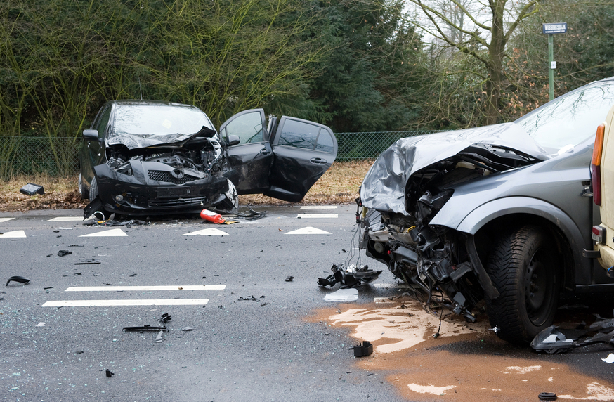 Picture of car collision