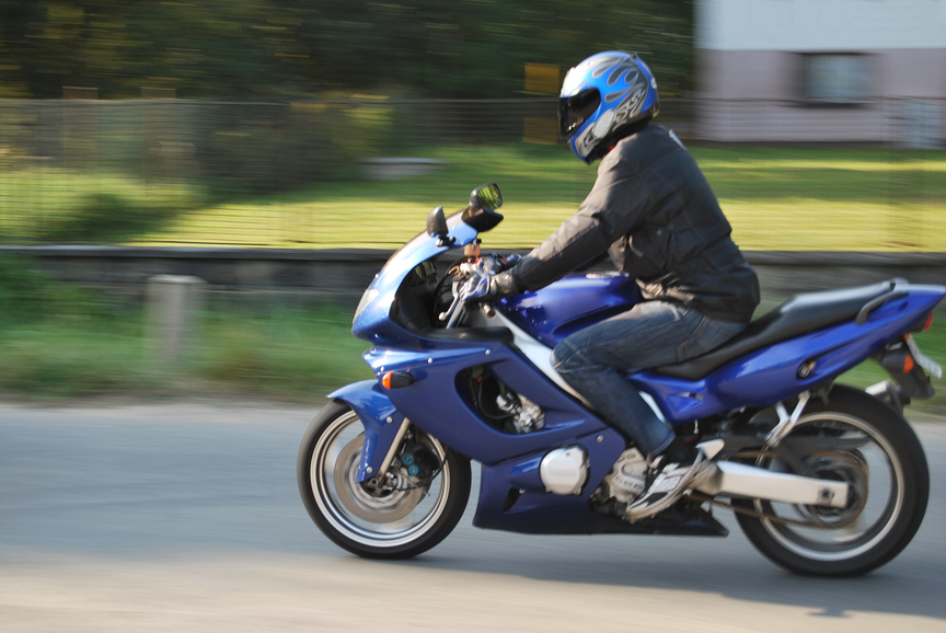 Picture of man riding motorcycle