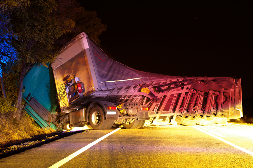 Picture of semi truck accident