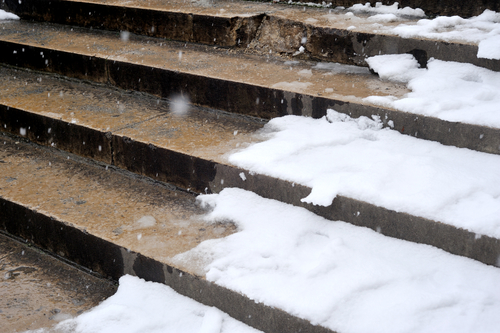 Picture of snow and ice on stairs