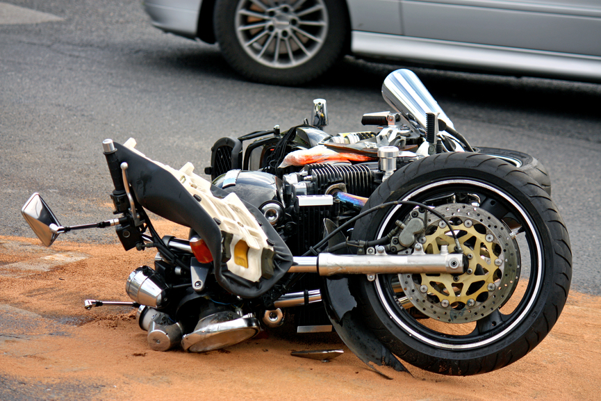 Picture of motorcycle wreck