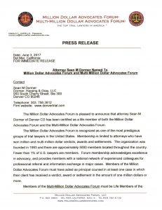 Picture of Million Dollar Advocates Forum Release