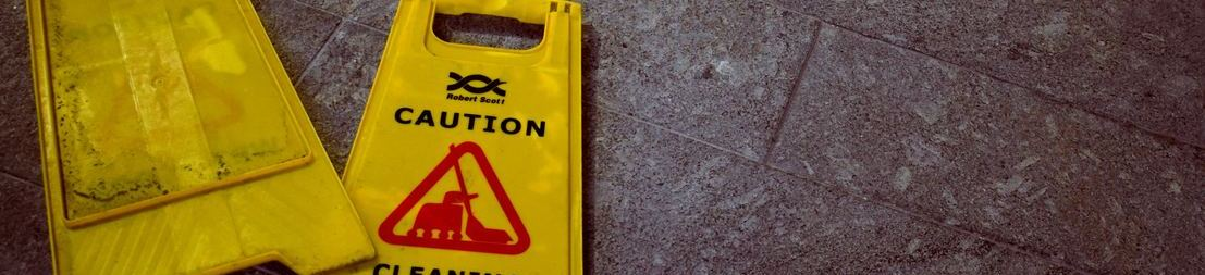 Picture of caution wet floor sign
