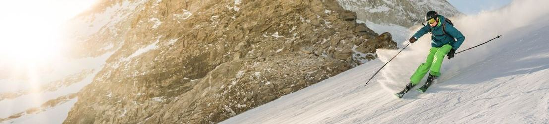 Picture of skiier