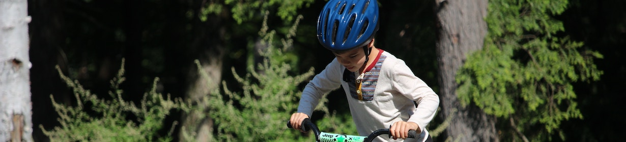 Picture of child riding a bicycle